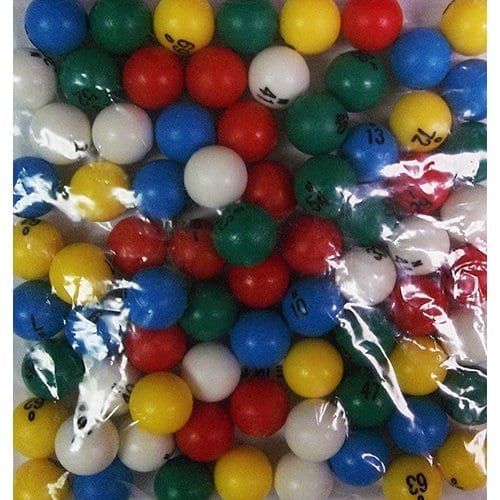 Mini Plastic 1/2″ 5 Color Bingo Ball Set