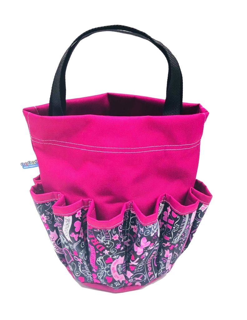 NEW- Breast Cancer Awareness 10 Pocket Dauber Bag w/Velcro – Pink
