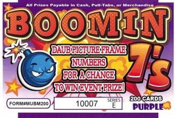 Boomin 7's Bingo Event Ticket 200ct
