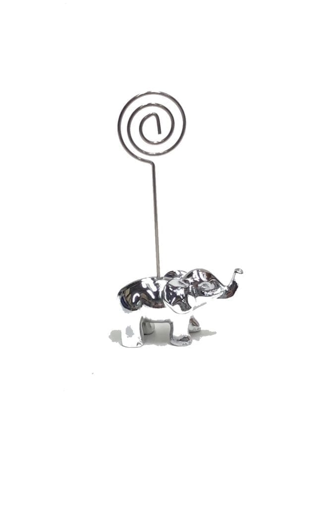 Chrome Elephant Ticket Holder