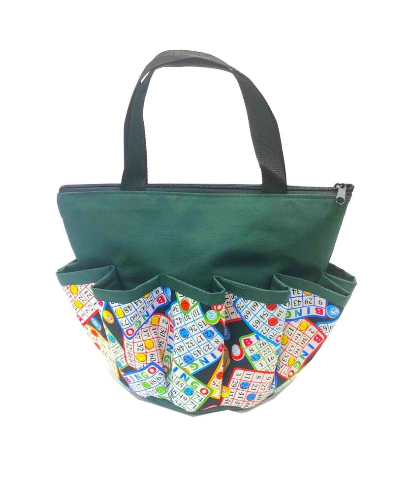 Chips 10 Pocket Dauber Bag w/Zipper- Green