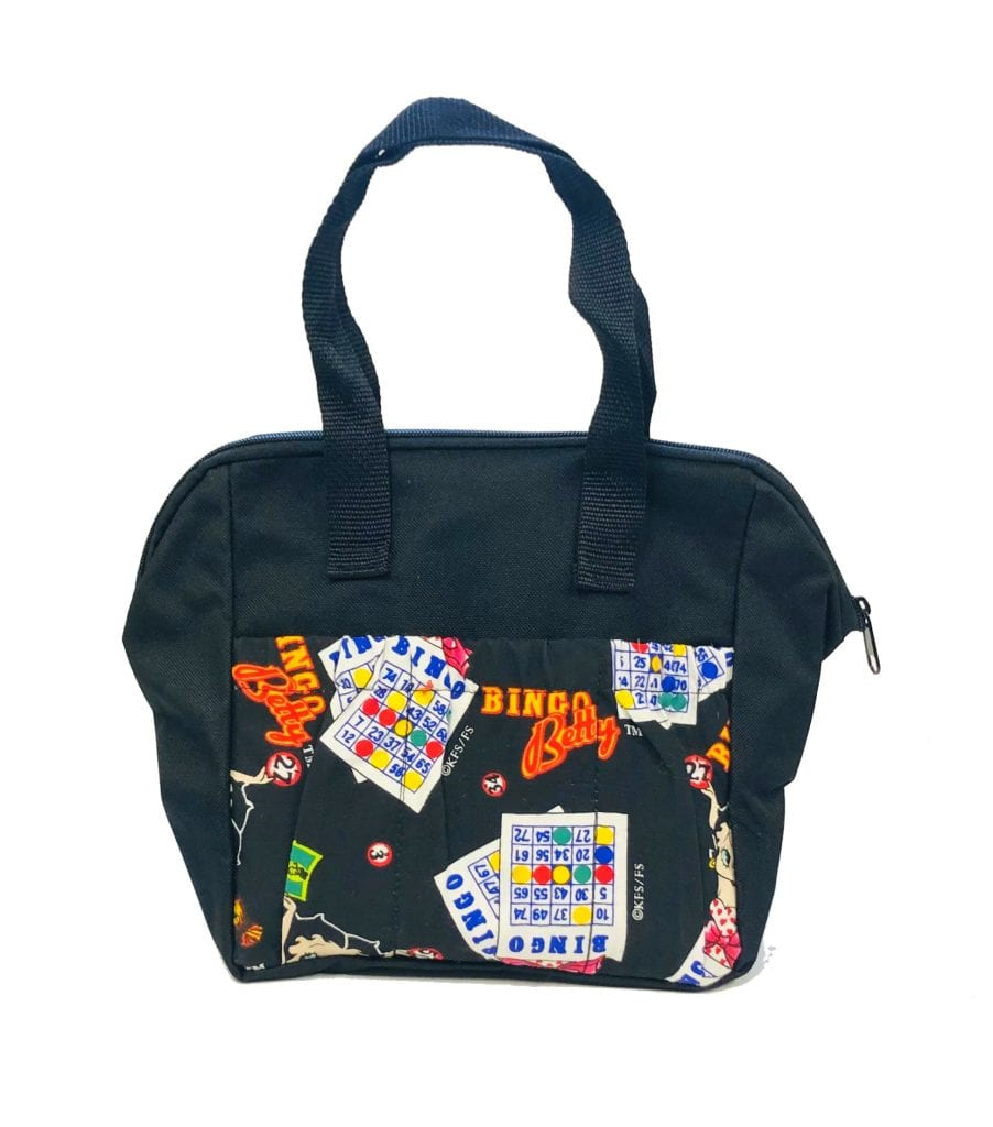 6 Pocket Bingo Betty Tote Bag- Black
