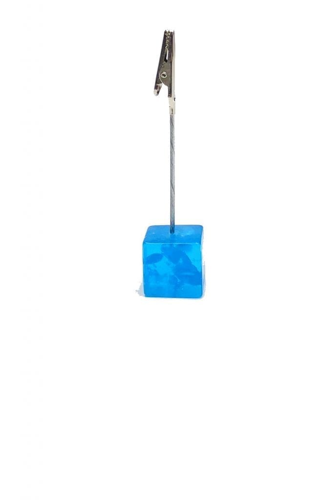 Blue Cube Ticket Holder