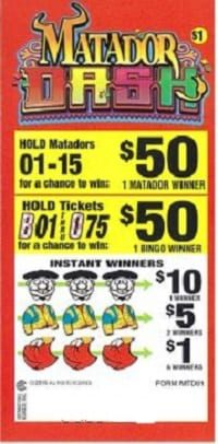 Matador Dash Bingo Event Ticket 180ct