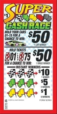 Super Cash Race Event Ticket – 180ct – SCR01