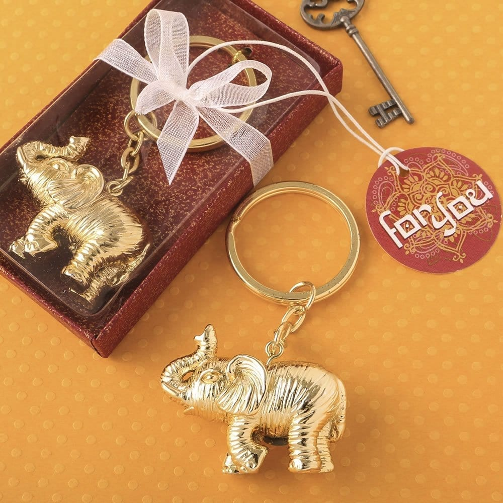 Lucky Gold Elephant Key Chain