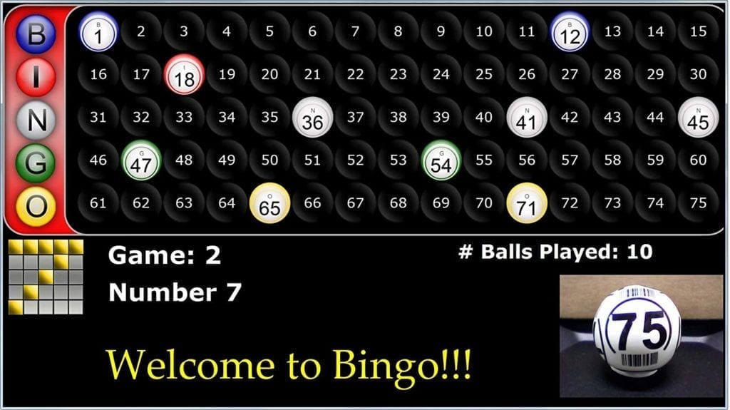 NEW- Excalibur Digital Bingo Portable Calling Station – Use TV's to Display in your Hall