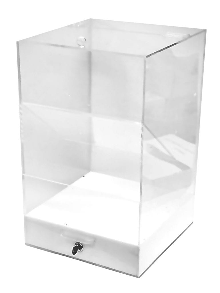 Acrylic Box with Locking Door – FINAL MARKDOWN