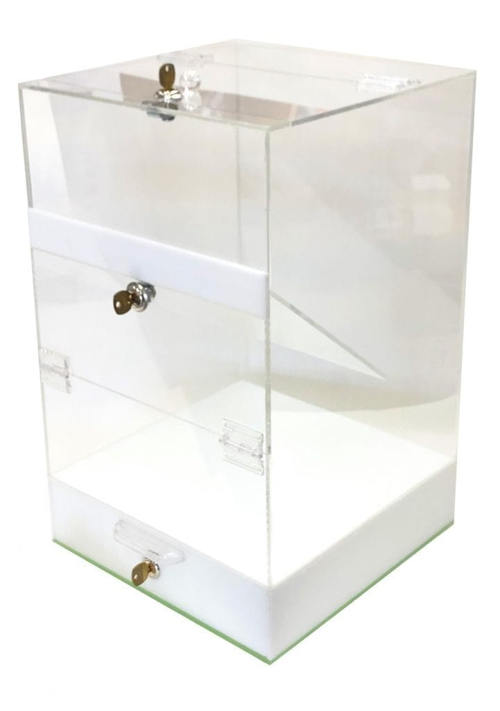 Acrylic Box with Locking Door – CLOSEOUT – Over 50% OFF