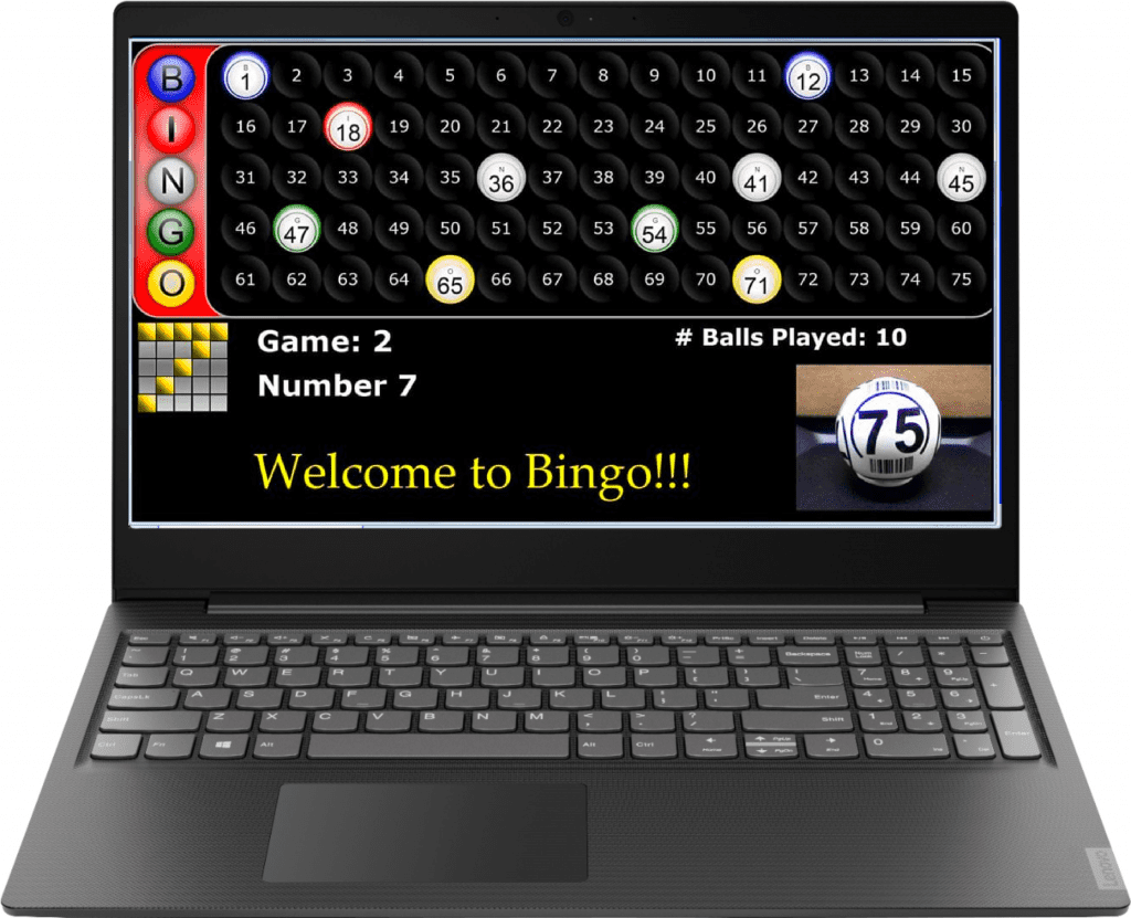NEW- Excalibur Digital Bingo Portable Calling Station with Random Ball Generator – Use TV's to Display in your Hall