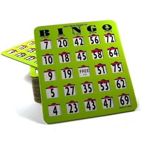 10 Pack EZ Read Large Print Bingo Slide Cards