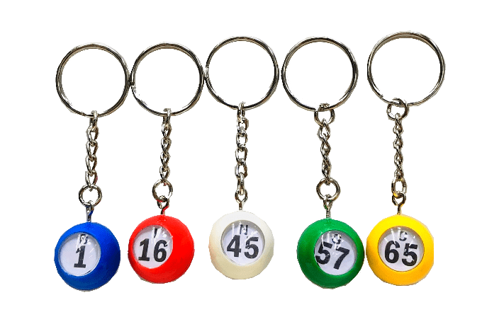 NEW- MINI Bingo Ball Key Chain