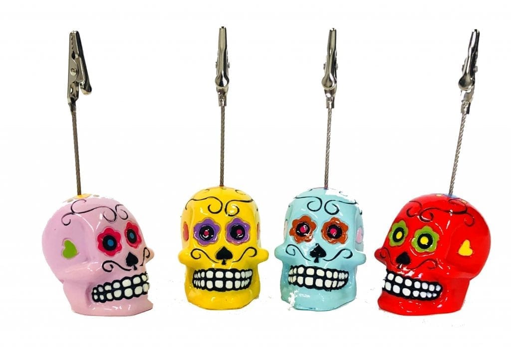 NEW- Skull Ticket Holder
