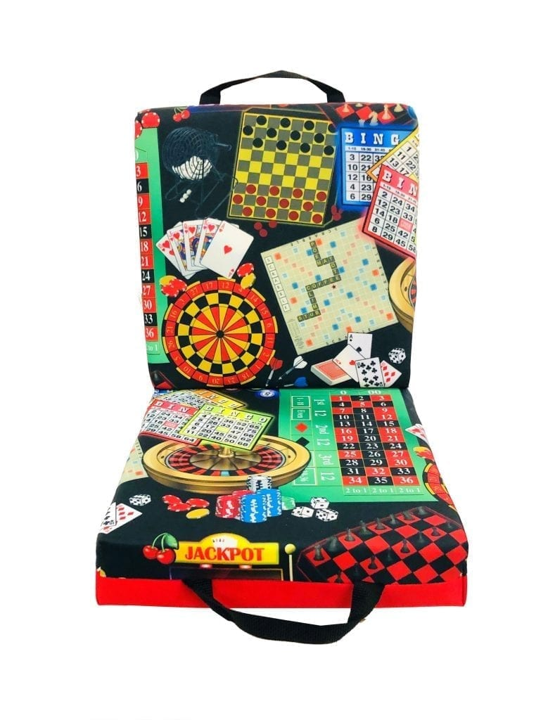 NEW- Games of Chance Double Seat Cushion – Red