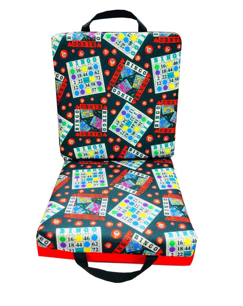 NEW- I Love Bingo Double Seat Cushion – Red