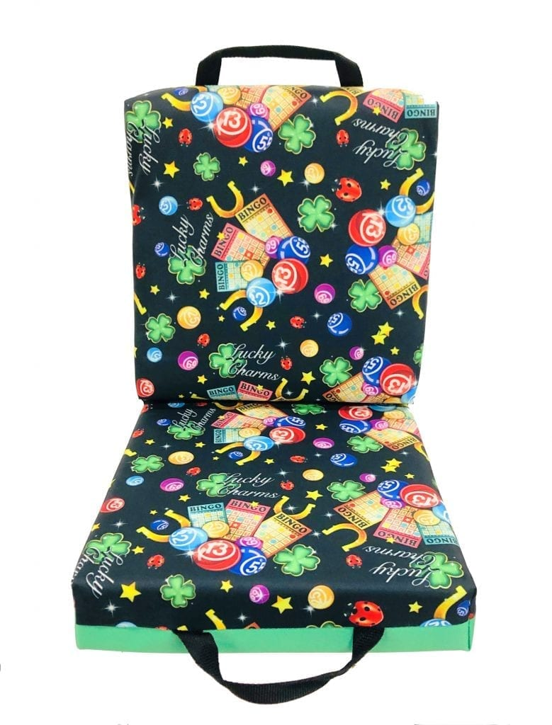 NEW- Lucky Charms Double Seat Cushion – Green