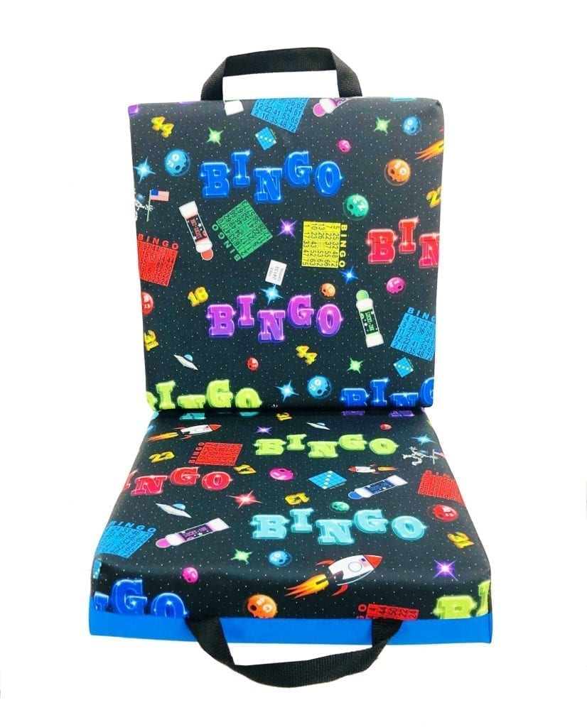 NEW- Space Bingo Double Seat Cushion – Blue