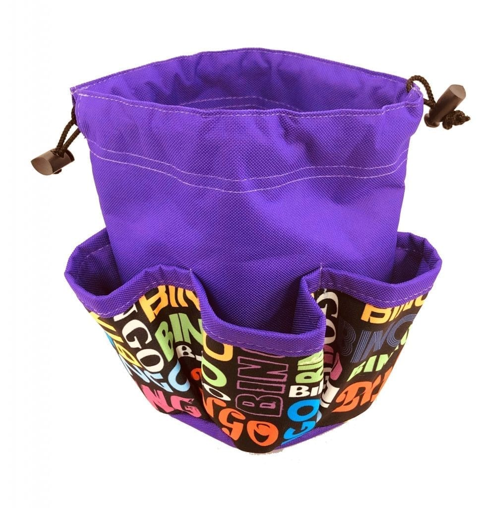 "NEW- 5 Pocket Mini ""Scramble"" Canvas Dauber Bag – Purple"