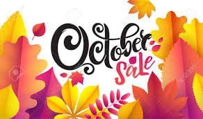 OCTOBER SALE Items - Click To Shop!