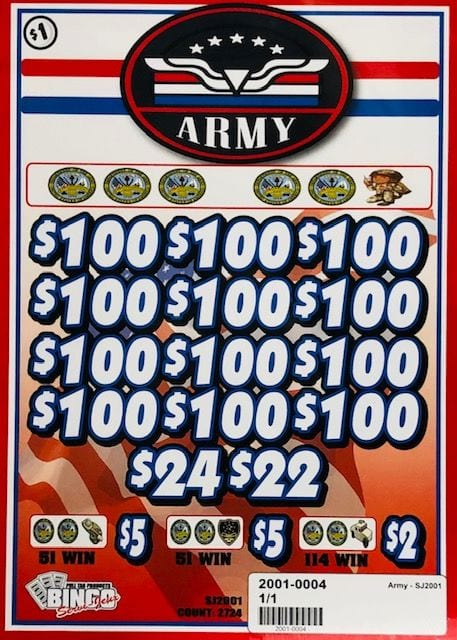 Army – Pull Tab Charity Ticket