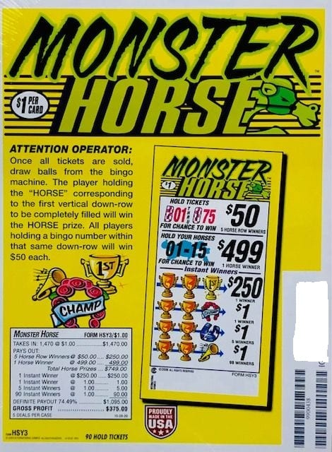 Monster Horse – Pull Tab Charity Ticket